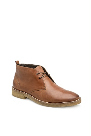 Leather Crepe Desert Boot