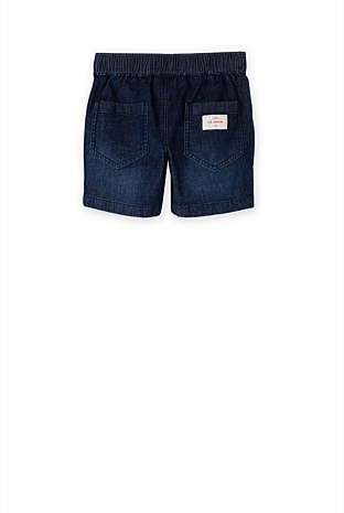 Pull On Denim Short