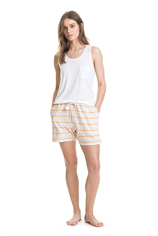 Jersey Stripe Harem Short