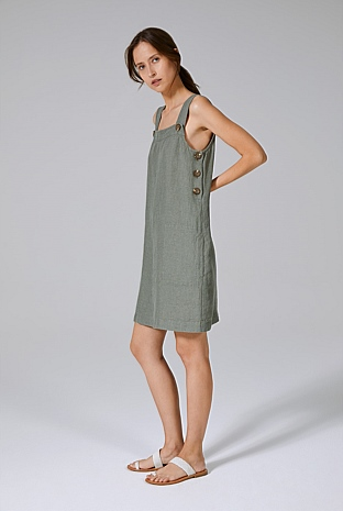 Twill Linen Pinafore