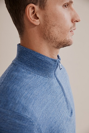 Traceable Merino Half Zip Knit