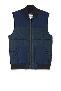 Panelled Puffer Vest