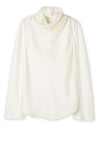 Funnel Neck Satin Top