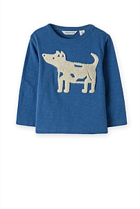 Embroidered Dog T-Shirt
