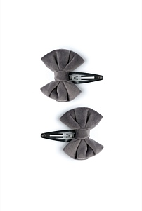 Velour Bow Clips Pack of 2