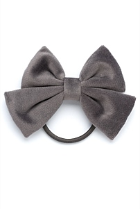 Velour Bow Hair Tie