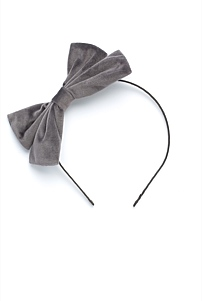 Velour Bow Headband