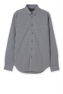 Slim Rail Road Gingham Shirt