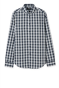 Large Melange Check Shirt