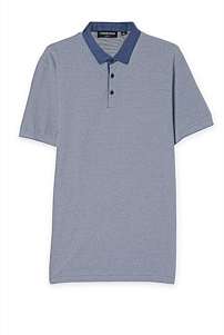 Slim Print Collar Polo