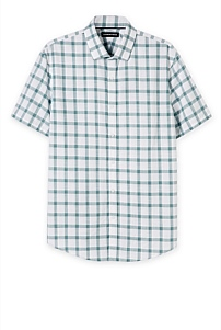 Slim Check Slub Shirt