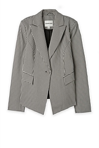 Gingham Single Breasted Jacket