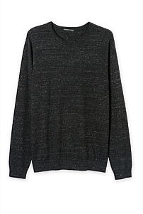 Cotton Linen Crew Knit
