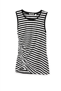 Ruched Jersey Stripe Tank