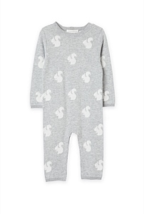 Unisex Squirrel Knit Jumpsuit