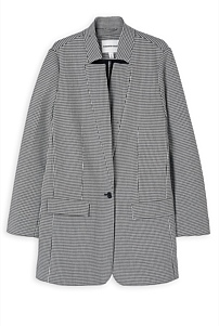 Houndstooth Boyfriend Coat