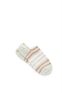 Block Stripe Low Cut Socks