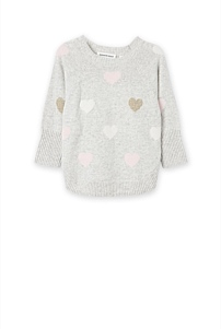 Heart Cape Pullover Knit