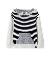 Stripe Knit Hoody
