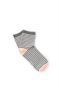 Stripy Quarter Crew Socks