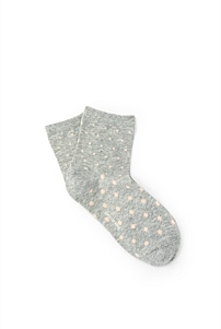 Polka Dot Quarter Crew Socks