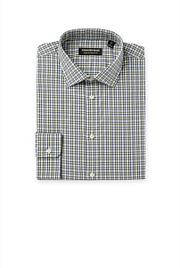 Regular Multi Grid Stretch Shirt