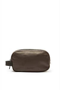 Leon Leather Wash Bag