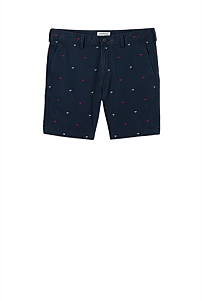 Bird Embroidered Short