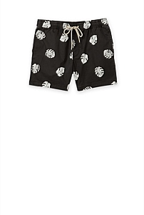 Leaf Print Swim Short