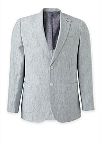Regular Stripe Linen Blazer