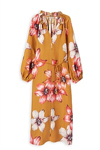 Lily Print Full Sleeve Dress