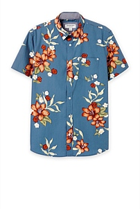 Short Sleeve Regular Large Floral Shirt