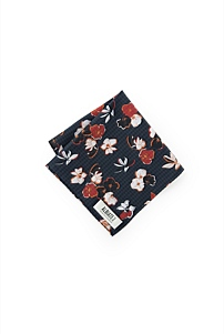 Contrast Floral Pocket Square