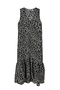 Ditsy Palm Print Midi Dress