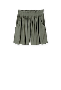 Shirred Waist Short