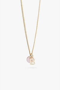 B Charm Necklace