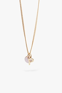 P Charm Necklace