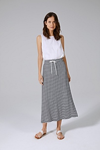 Easy Stripe Linen Skirt