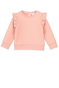 Quilted Ruffle Sweat