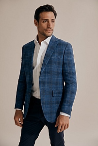 Slim Grid Check Blazer