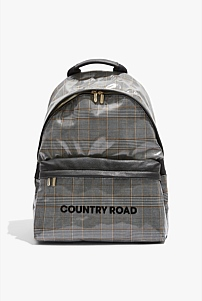 Coated Check Backpack
