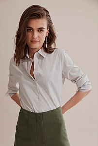 Stripe Button Through Shirt