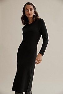 Compact Knit Column Dress