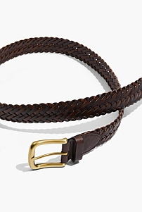 Two Tone Plait Belt