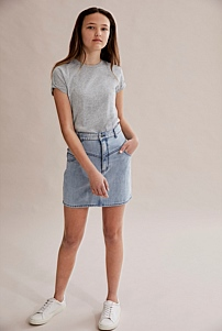 Denim Yoke Skirt