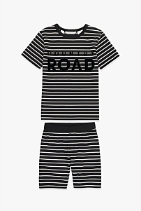 Stripe Logo Pyjama Set