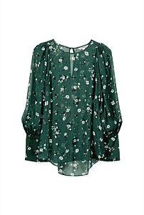 Tossed Botanical Blouse