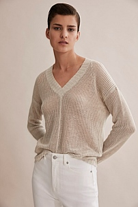 Lightweight V-Neck Knit