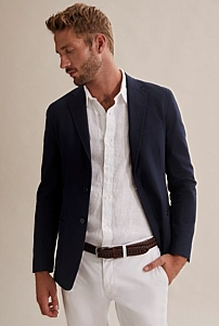 Regular Textured Stretch Blazer