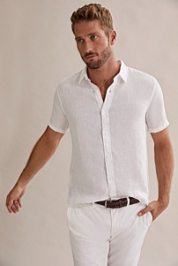 Short Sleeve Irish Linen Shirt